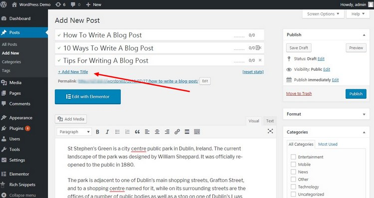 How To A/B Test Blog Post Titles In WordPress & Improve CTR