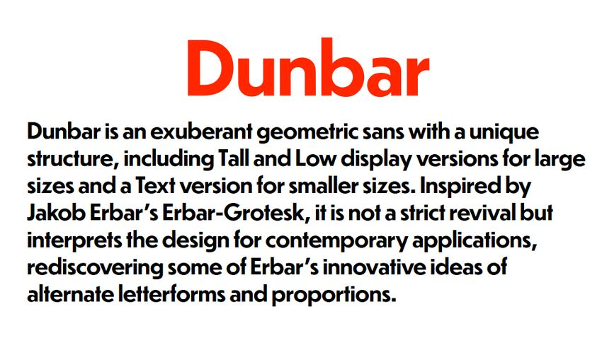 Dunbar Variable Font