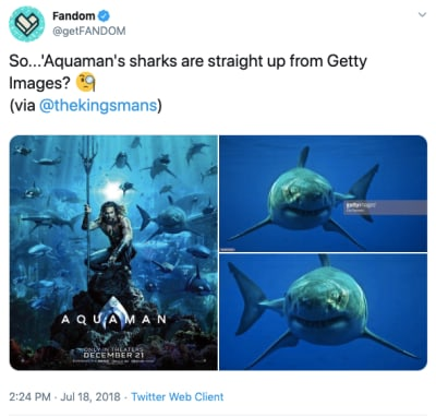 Twitter users were in an uproar over the Aquaman movie poster