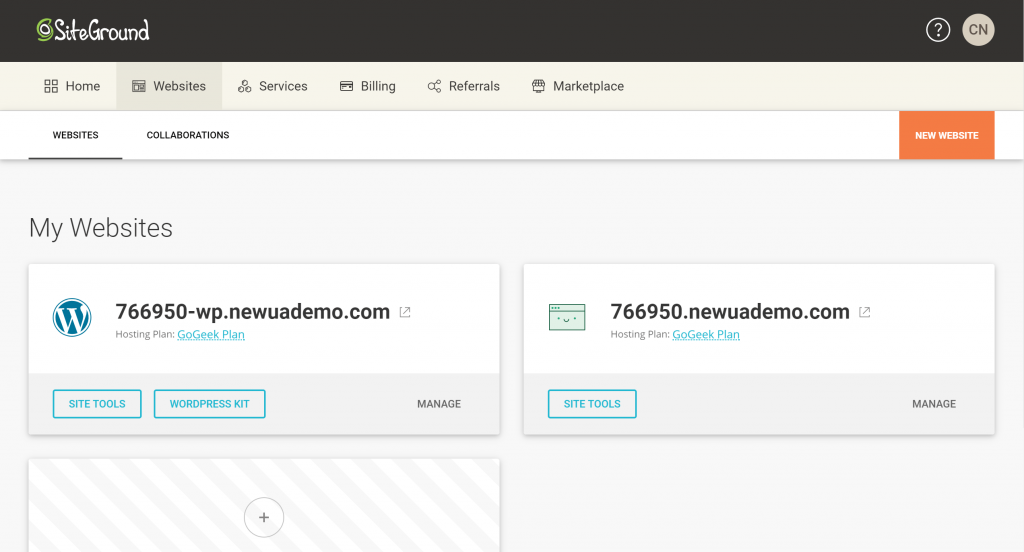 SiteGround Gets a New Hosting Dashboard