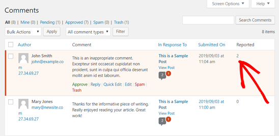 How to Allow Users to Report Inappropriate Comments in WordPress