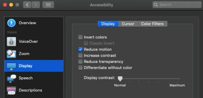 Use the prefers-reduced-motion media query to toggle CSS and JavaScript animations