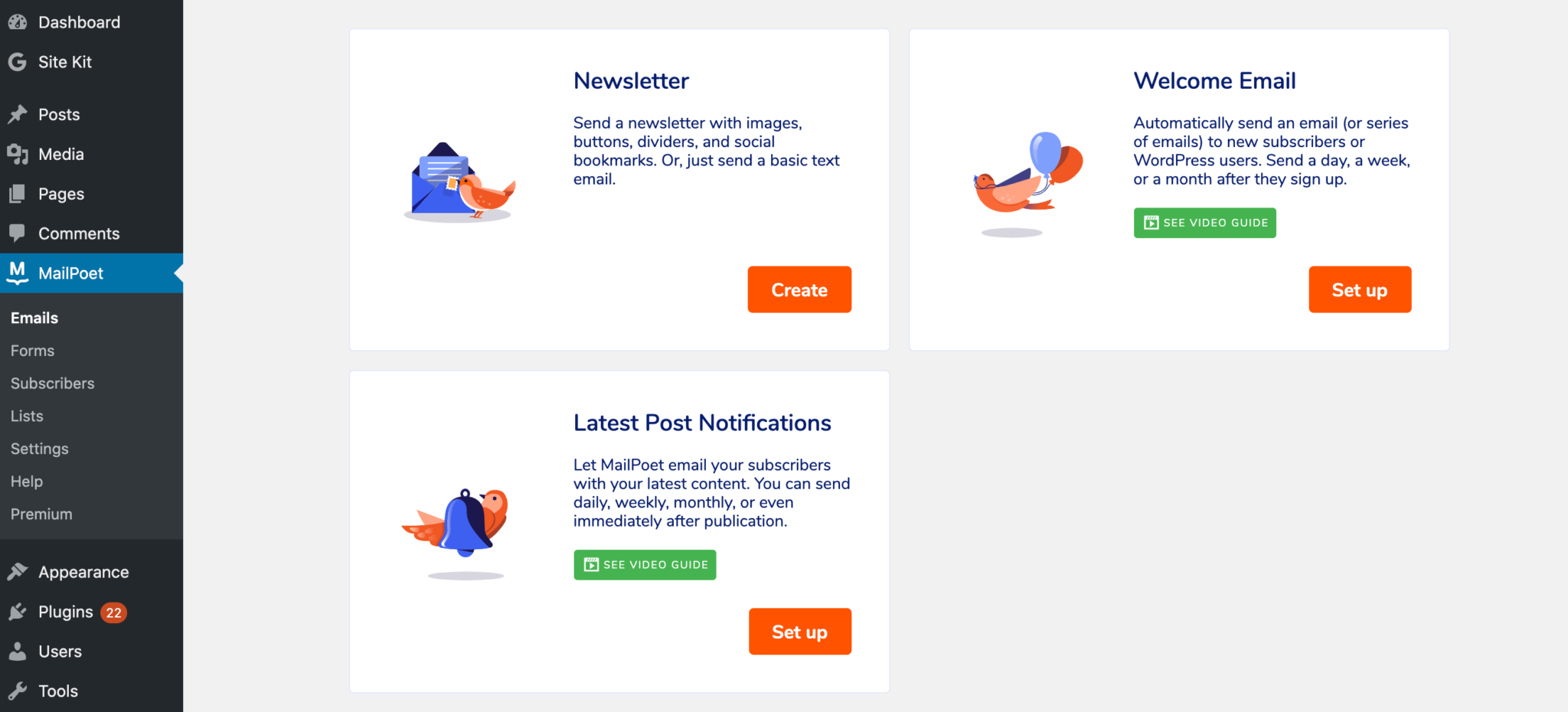 The MailPoet email templates.