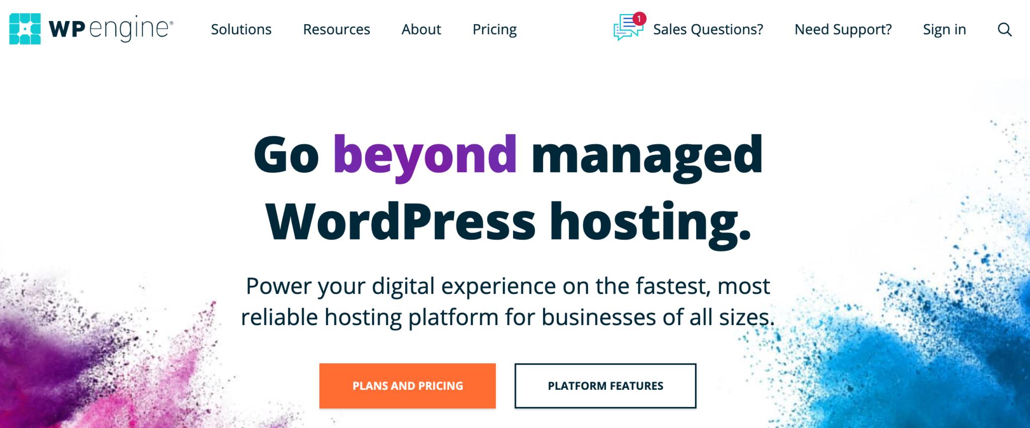WP Engine WordPress hosting.
