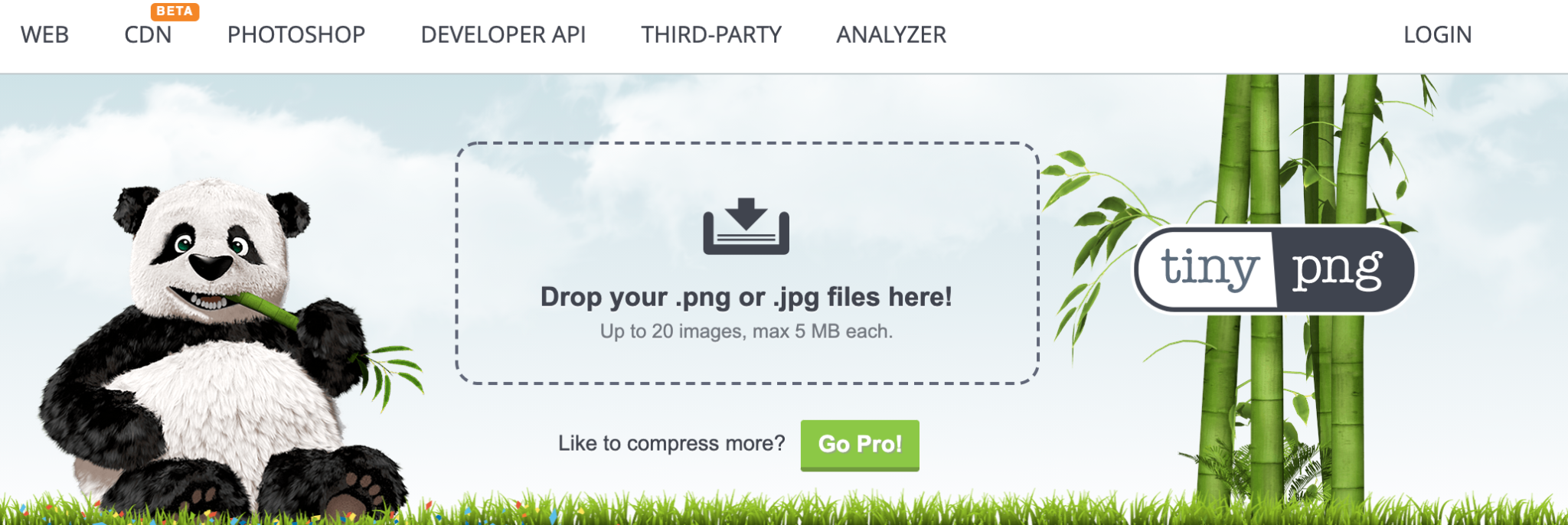 The TinyPNG image compression tool.