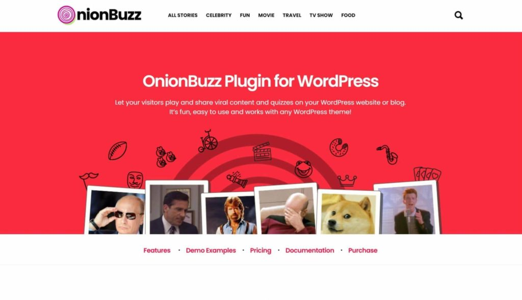 An example of a WordPress quiz plugin.