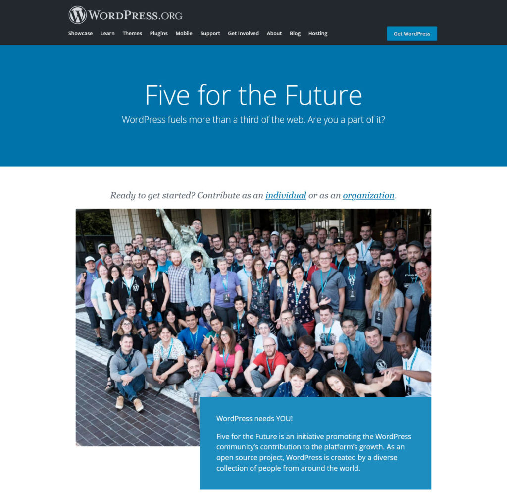 five for the future intitiative homepage