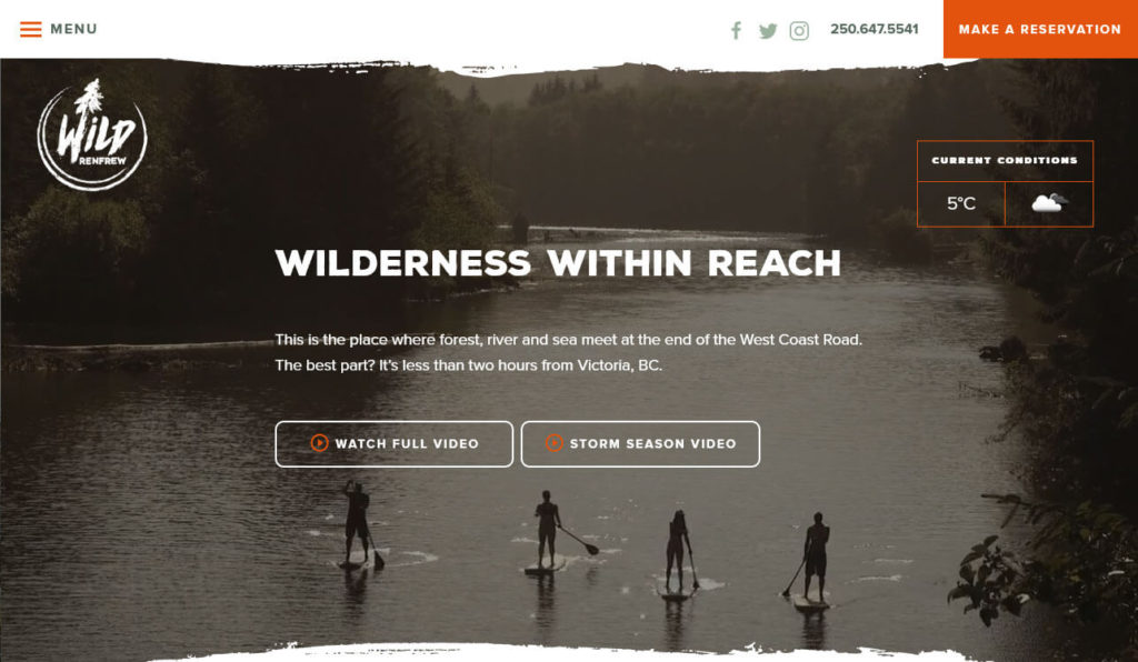 web design trends 2021 video background example