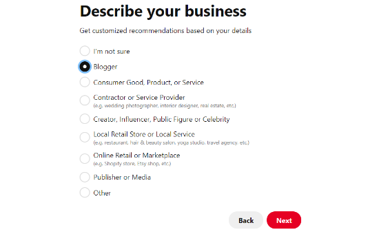 Get customized recommendations