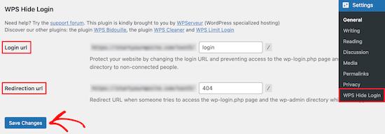 WPS Hide Login add redirect