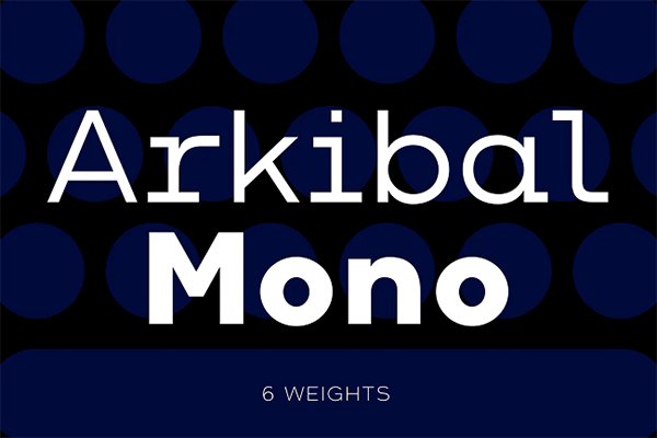 Arkibal Mono Monospaced Font