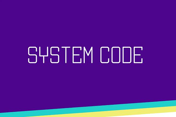 System Code Monospaced Font