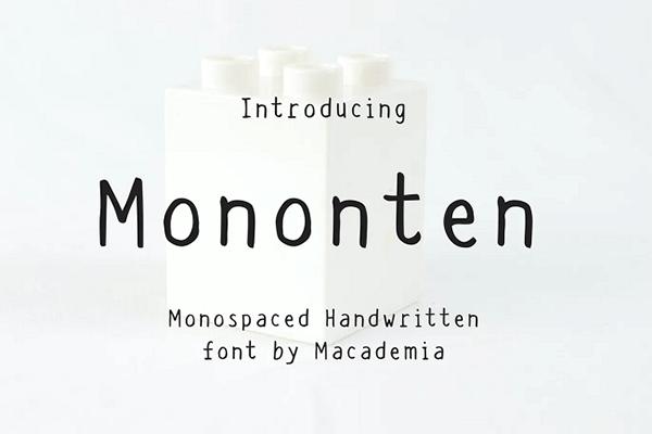 Mononten Monospaced Font
