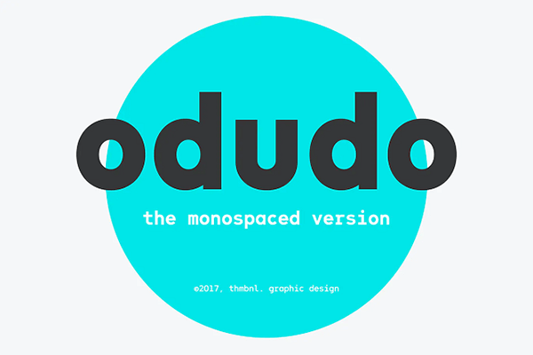 Odudo Monospaced Font