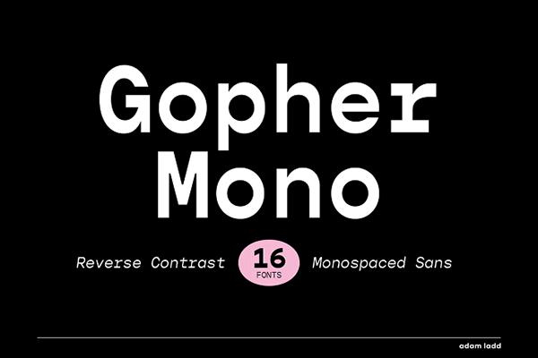 Gopher Mono Monospaced Font