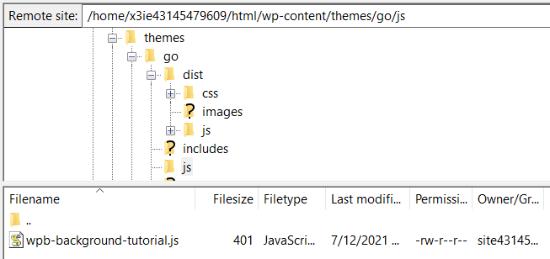 Upload JS file using a FTP service
