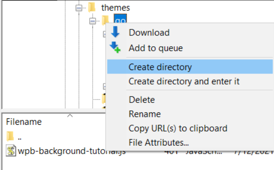 Create a directory and name it