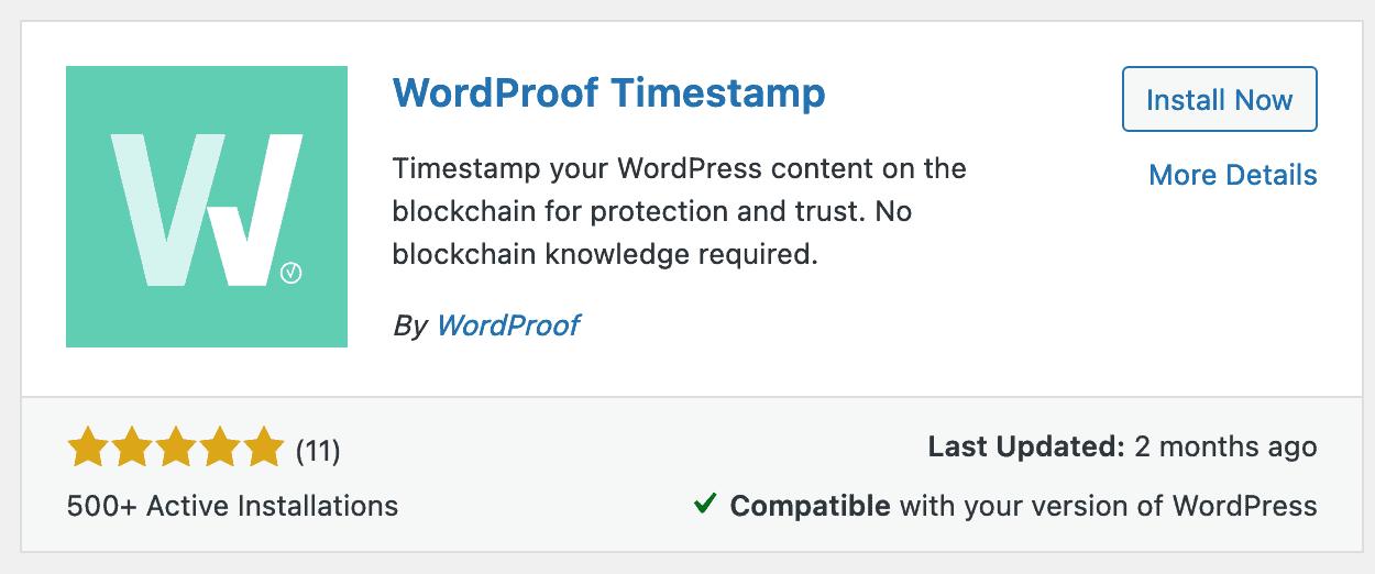 The WordProof plugin installer.