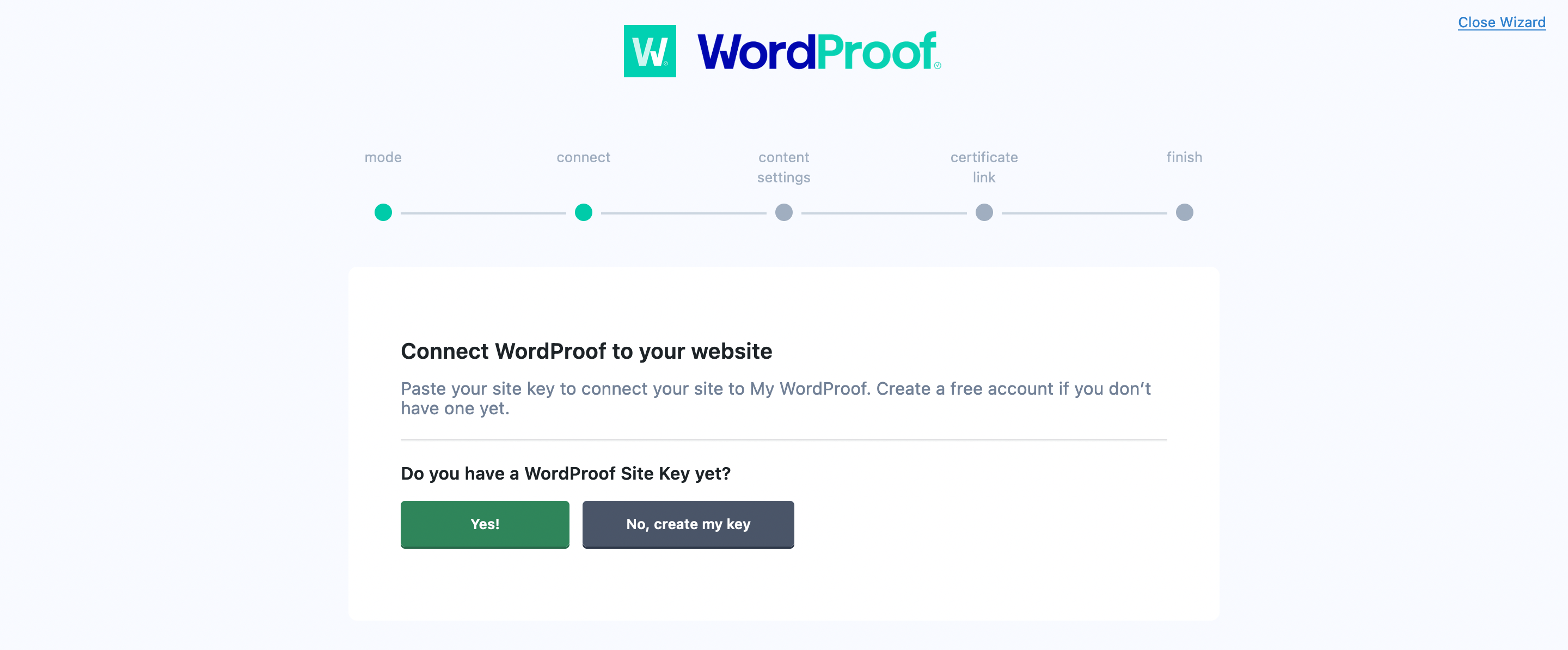 Connecting your WordPress site to WordProof.