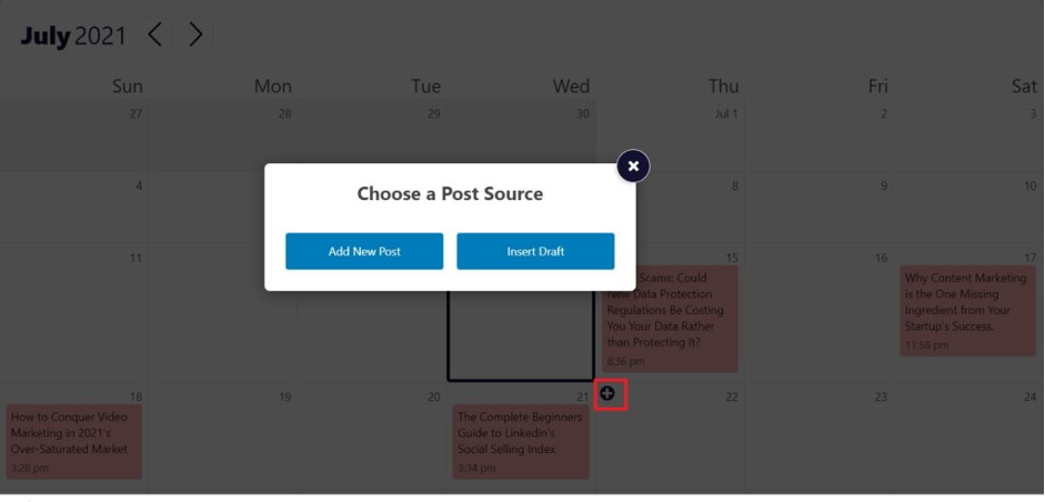 Strive Content Calendar - Adding New Content