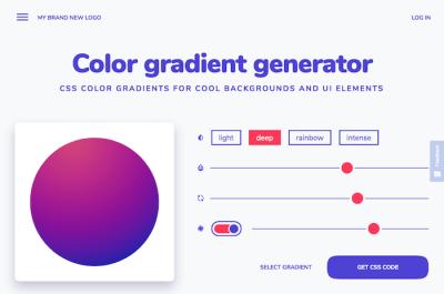the color gradient generator