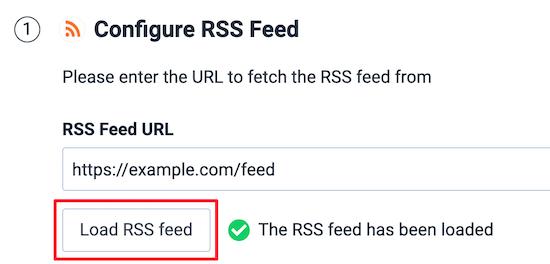 Enter RSS feed URL