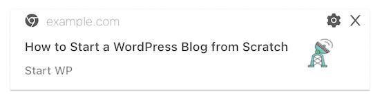 PushEngage example post notification