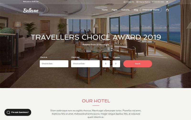 Bellevue - Travel WordPress Theme