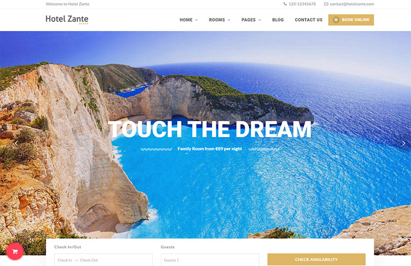 Hotel Zante - Travel WordPress Theme