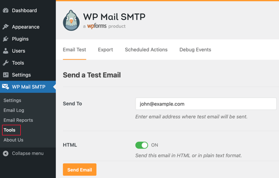 Send a Test Email