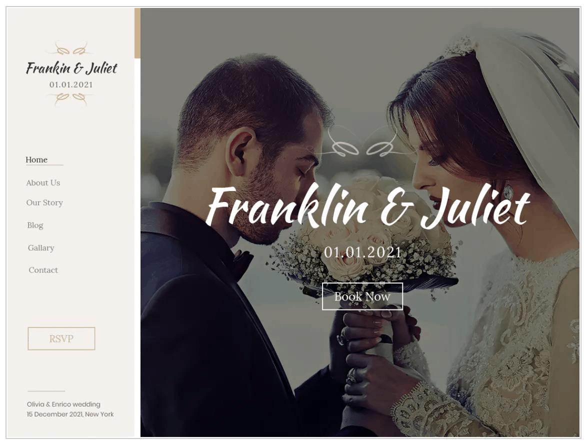 The Classic Wedding theme.