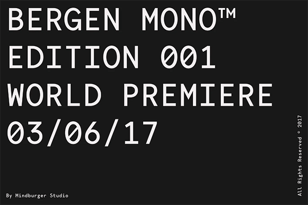 Bergen Mono Monospaced Font