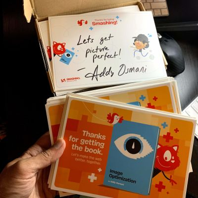 Each book is now shipped with a hand-written note by Addy Osmani himself.
