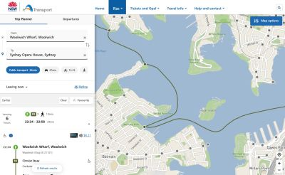 A well-designed filter in a well-designed trip planner UI.