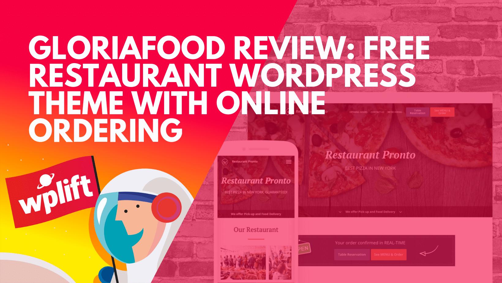 Free Restaurant WordPress Theme With Online Ordering
