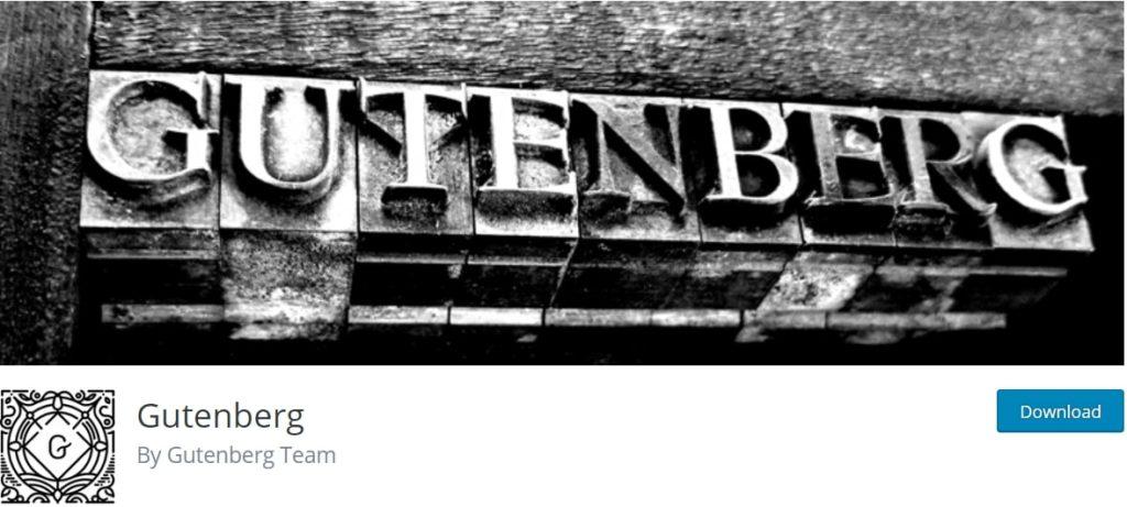 The Gutenberg plugin