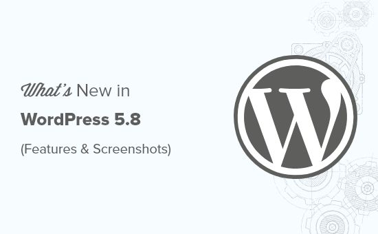 WordPress 5.8 new features with screenshots