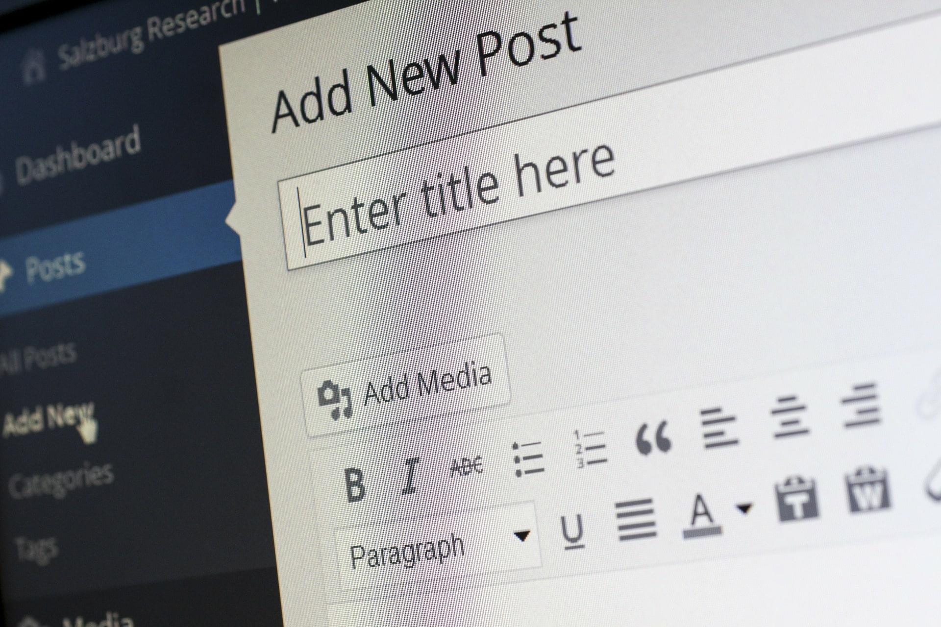 wordpress blog page