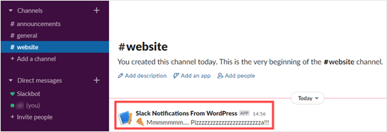 Adding your RSS feed's URL to the Slack RSS app