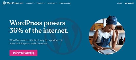 The WordPress.com all-in-one website builder