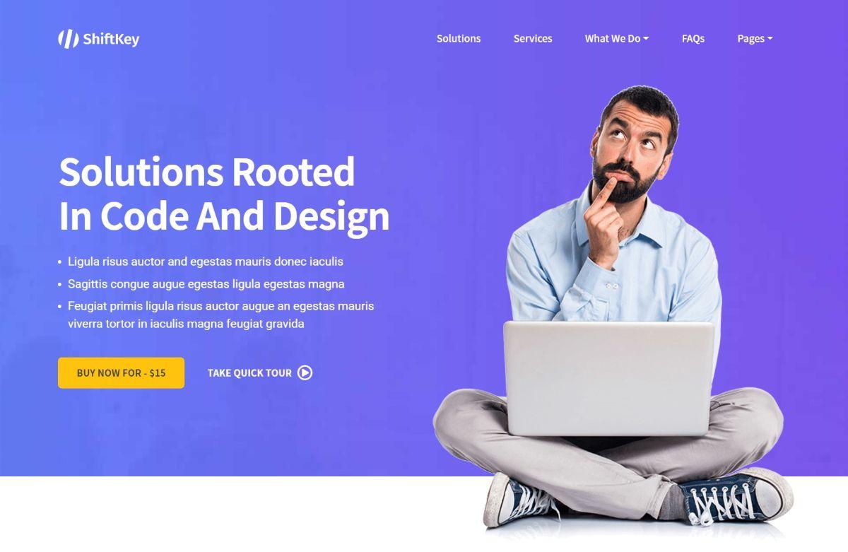 ShiftKey WordPress landing page theme