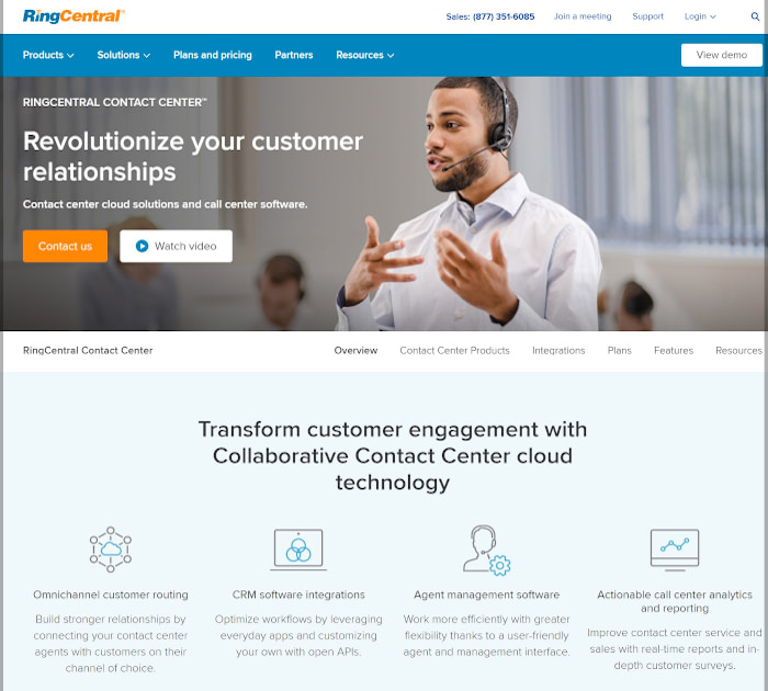 Best call center software: RingCentral