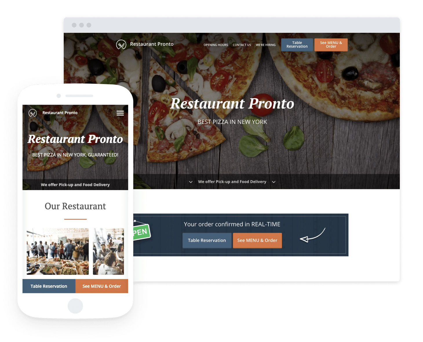 Free Restaurant WordPress Theme With Online Ordering