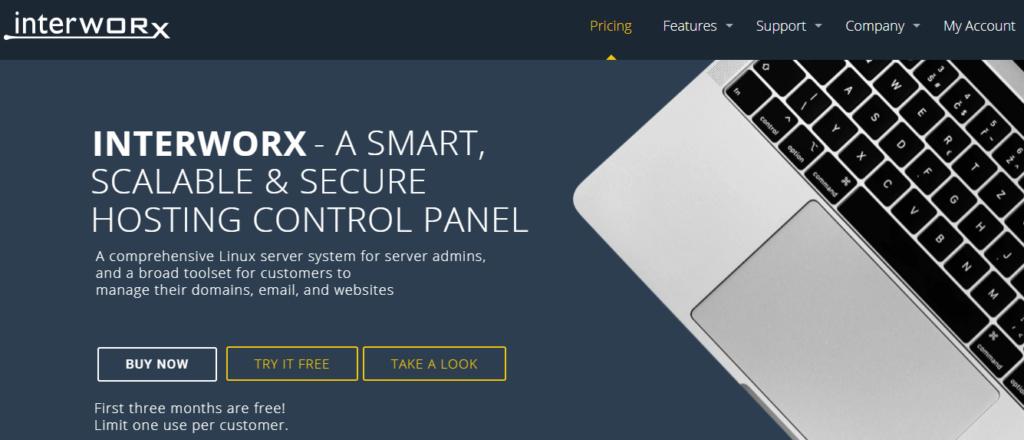 The InterWorx web hosting control panel.