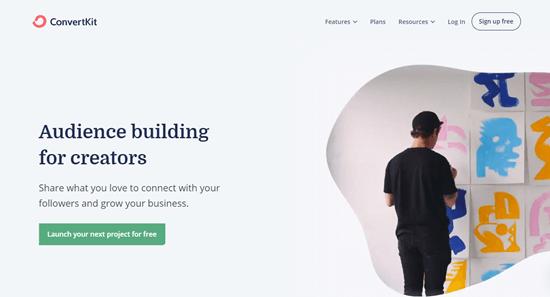 The Convertkit website
