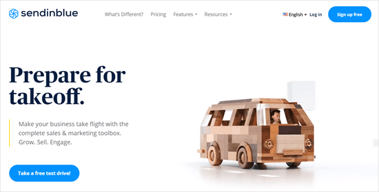 The Sendinblue website