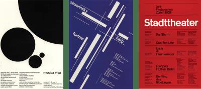 Three posters by Josef Muller-Brockmann