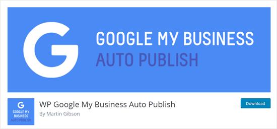 Google My Business Auto Publish plugin