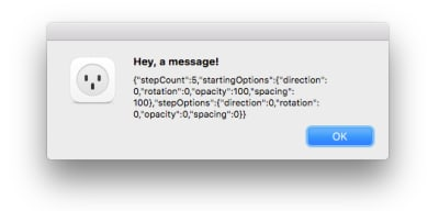 Image showing the dialog you should see after clicking the 'apply' button in the plugin's UI.