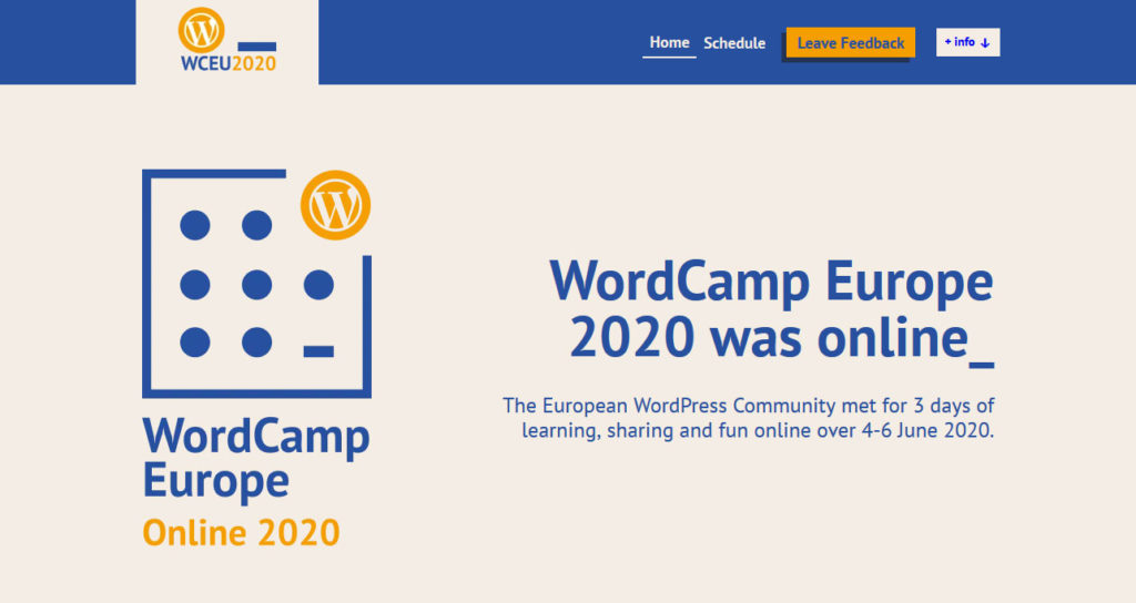 Report from WordCamp Europe 2020: The Future of WordPress